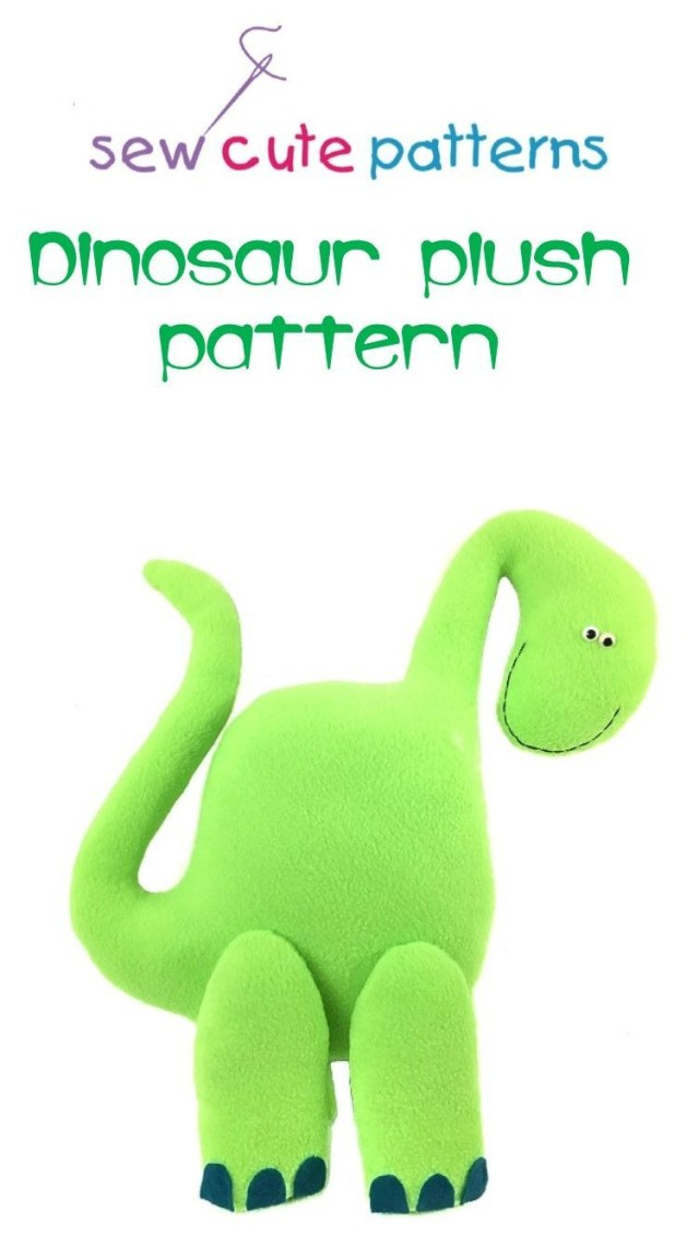 Dinosaur Sewing Pattern Easy Stuffed Dinosaur Pattern Is Perfect For Beginners Sewing