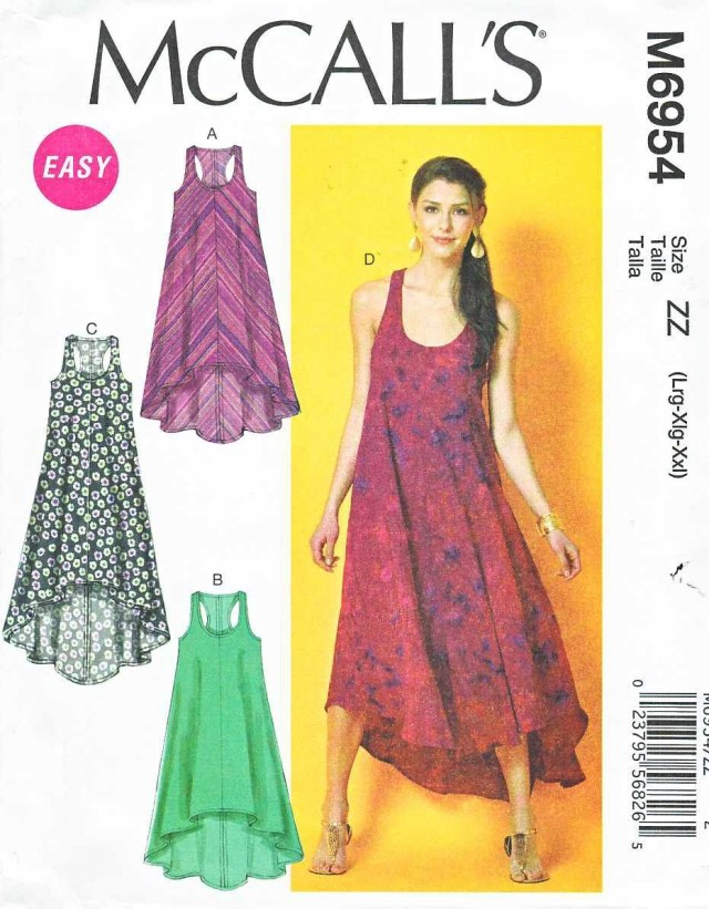 Diy Sewing Patterns Clothes Mccalls Sewing Pattern 6954 Misses Size 16 26 Easy Sleeveless Summer