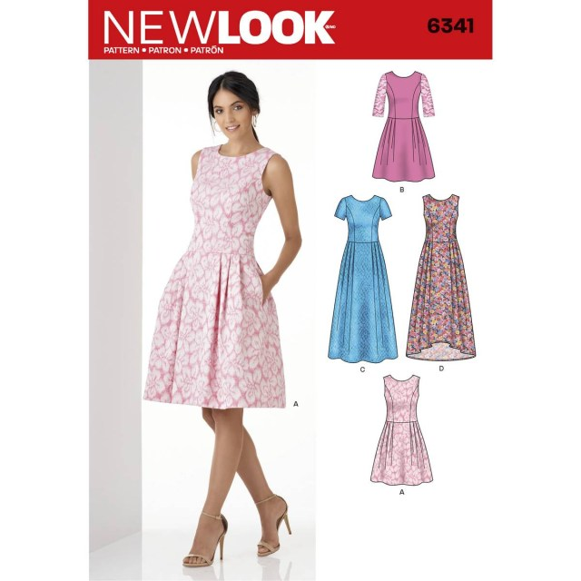 Dress Sewing Patterns New Look Womens Dress Sewing Pattern 6341 Hobcraft