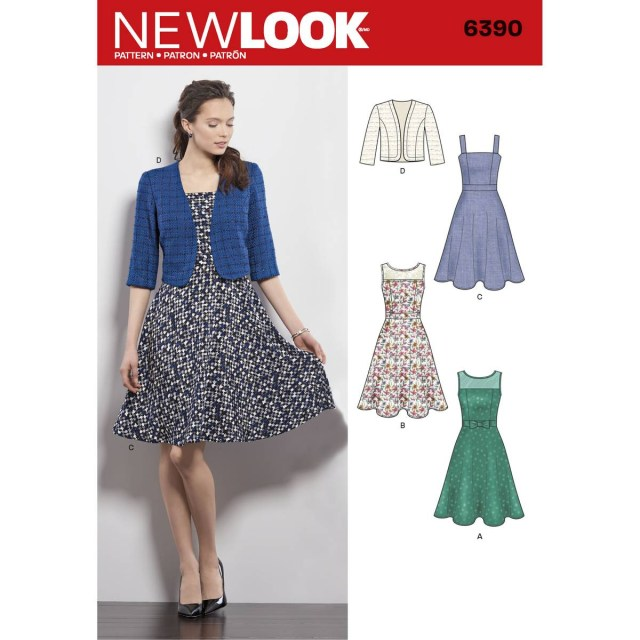 Dress Sewing Patterns New Look Womens Dress Sewing Pattern 6390 Hobcraft