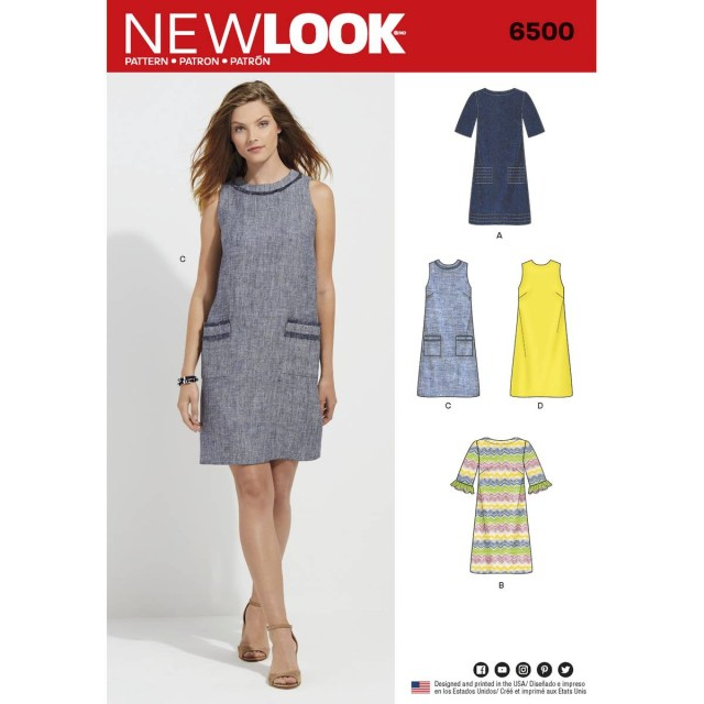 Dress Sewing Patterns New Look Womens Dress Sewing Pattern 6500 Hobcraft