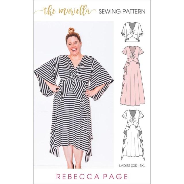 Dress Sewing Patterns The Mariella A Ladies Knit Dress Sewing Pattern Rebecca Page
