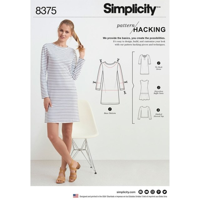 Dress Sewing Patterns Womens Knit Dress Or Top For Design Hacking Simplicity Sewing