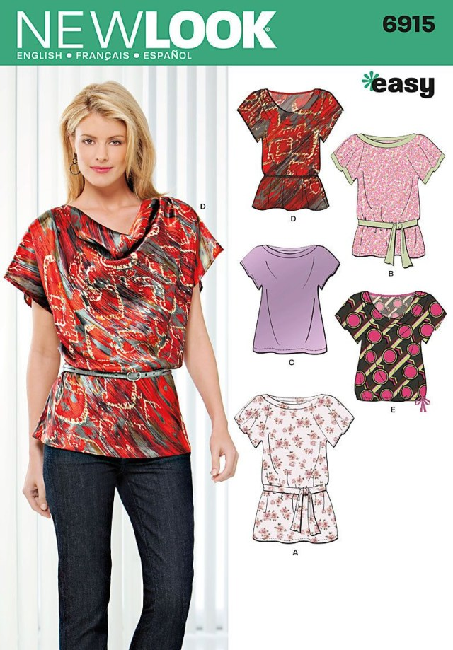 Easy Blouse Sewing Pattern Sewing Pattern Tops Summer Blouses Women Girls New Look Simplicity