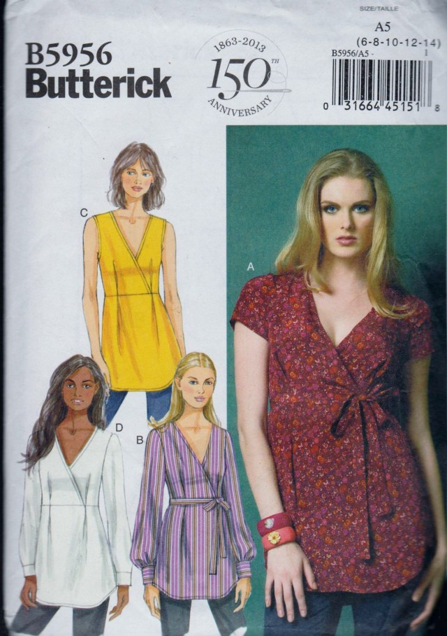 Easy Blouse Sewing Pattern Uncut Factory Folded Sewing Pattern Butterick B5956 Ladies Easy