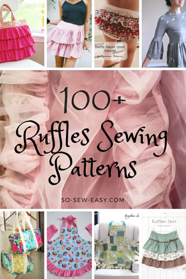 Easy Sew Patterns 100 Free Ruffles Sewing Patterns So Sew Easy