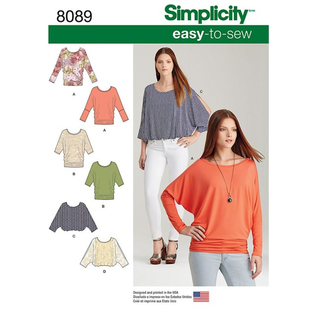 Easy Sew Patterns Misses Easy To Sew Knit Tops Simplicity Sewing Pattern 8089 Sew