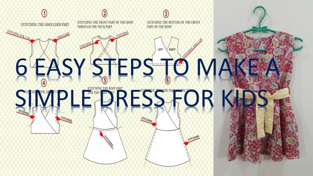 Easy Sewing Patterns For Beginners How To Make A Simple Dress Pattern And To Sew It Step Step For
