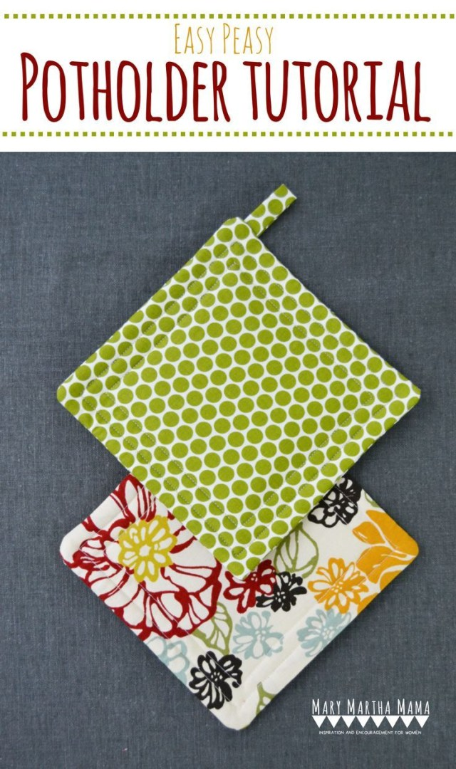 Easy Sewing Patterns For Beginners Super Simple Potholder Tutorial Make These Easy Potholders In Just