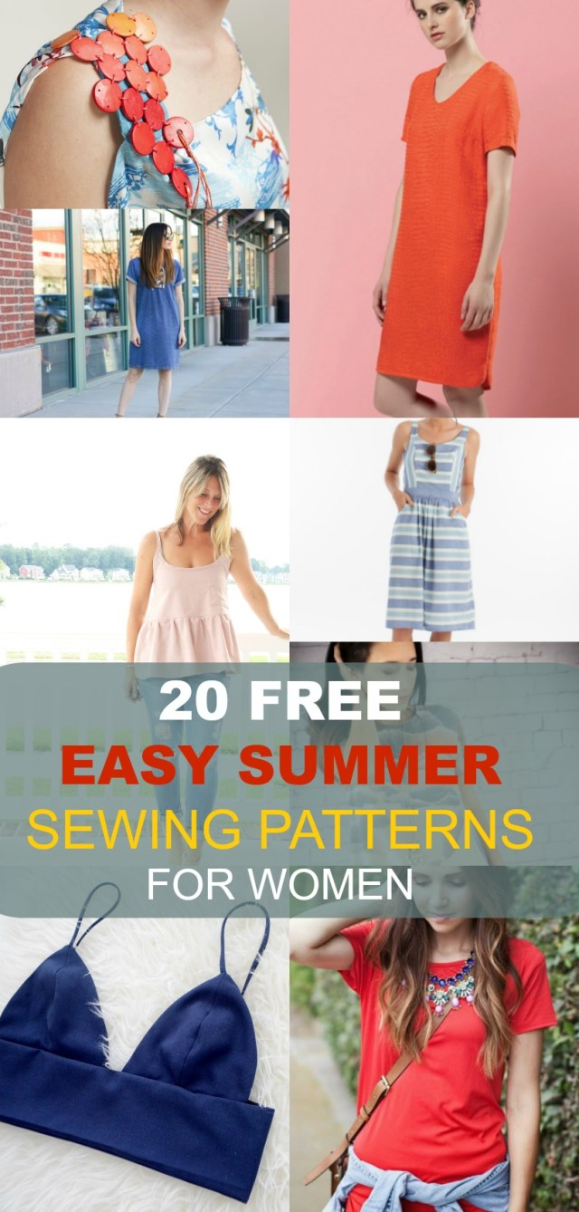 Easy Sewing Patterns Free Sewing Patterns 20 Easy Summer Patterns For Women On The
