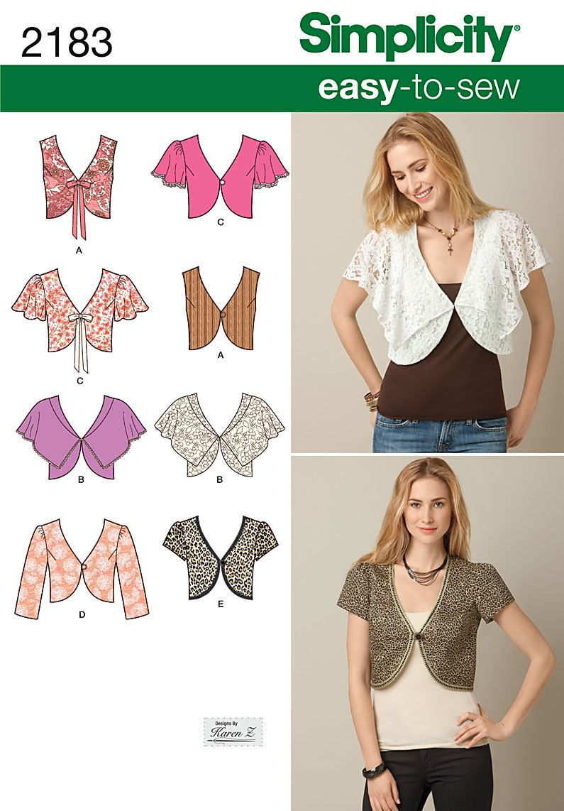 Easy Sewing Patterns Simplicity 2183 Misses Easy To Sew Vest Or Jacket
