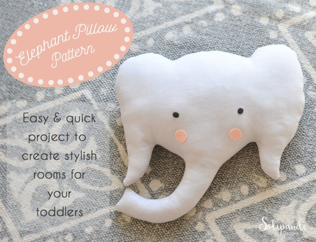 Elephant Sewing Pattern Elephant Pillow Sewing Pattern Make Your Own Toy Pattern