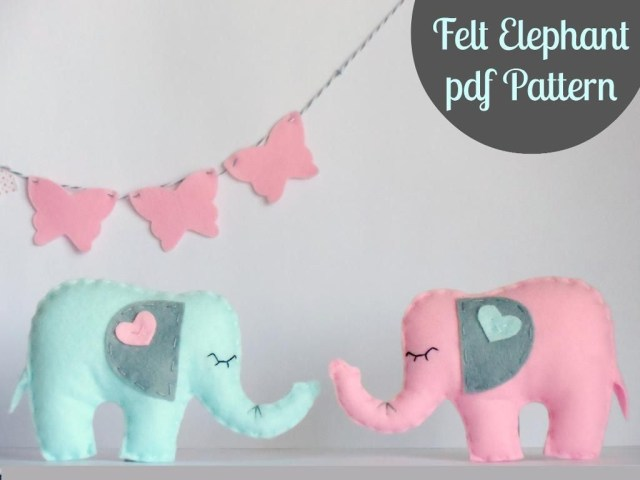 Elephant Sewing Pattern Felt Elephant Pdf Ria Crawford Sewing Pattern Looking