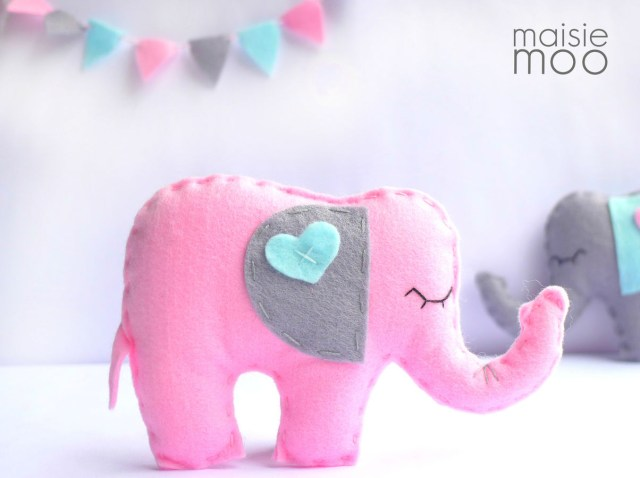Elephant Sewing Pattern Felt Elephant Sewing Pattern