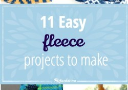 Fleece Sewing Projects Diy Crafts 11 Easy Fleece Projects To Make Inspiration Sewing Projects