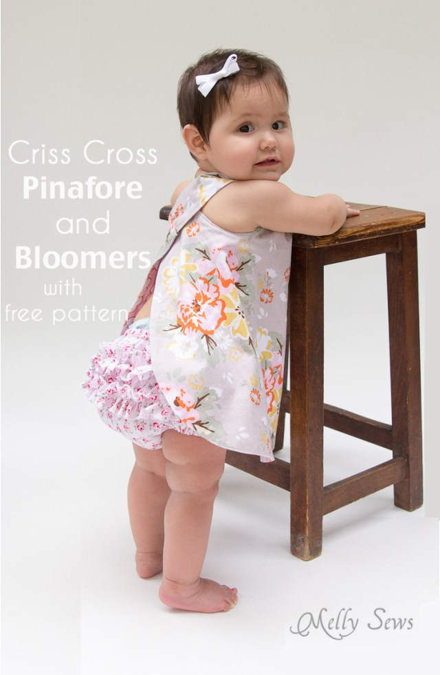 Free Baby Sewing Patterns Free Ba Pinafore And Bloomers Pattern Melly Sews