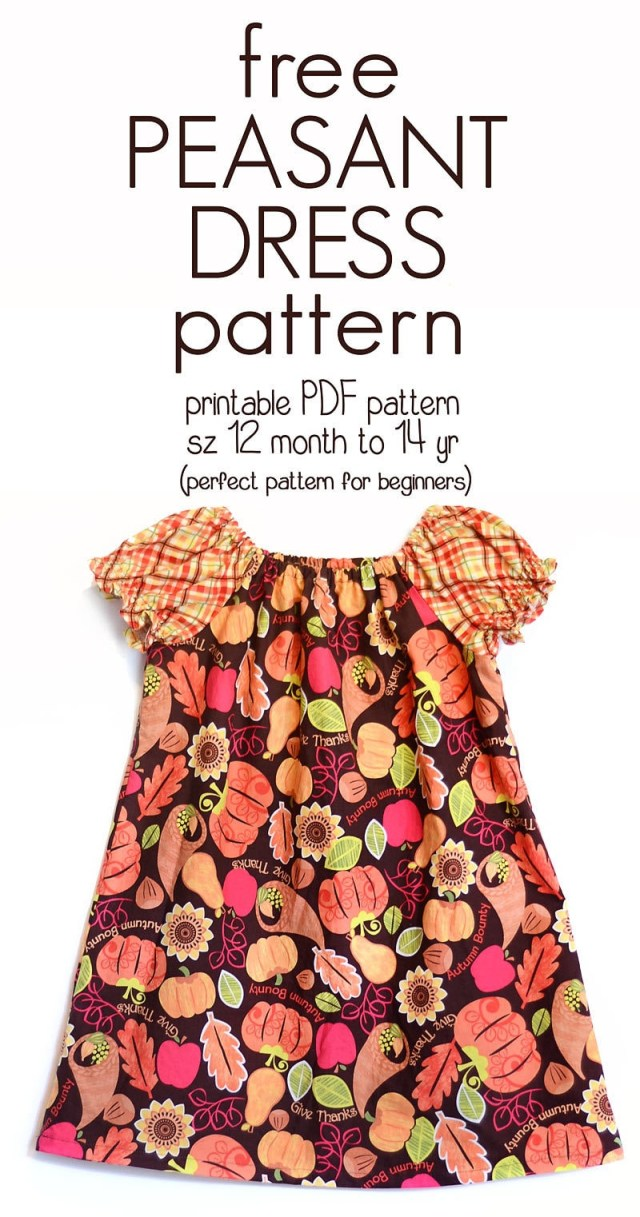 Free Plus Size Sewing Patterns Learn How To Sew A Peasant Dress With This Free Peasant Dress