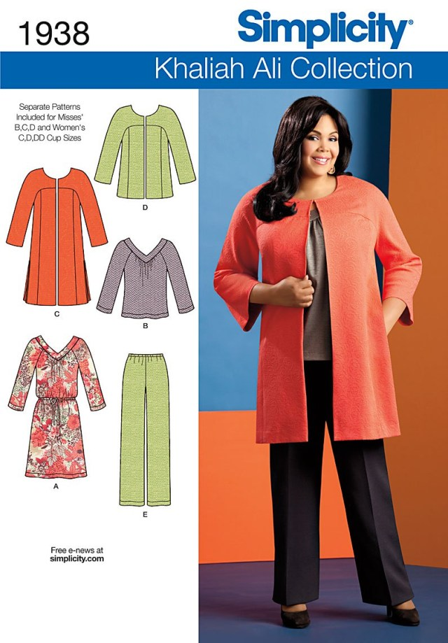 Free Plus Size Sewing Patterns Simplicity 1938 Misses Plus Size Sportswear