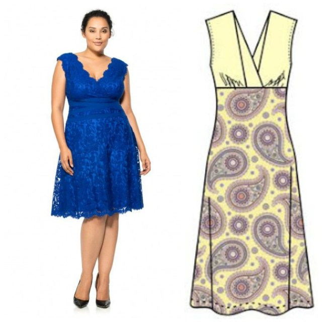 Free Plus Size Sewing Patterns V Neck Dress Pattern Free Sew Pinterest Sewing Patterns