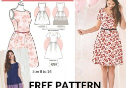Free Sewing Pattern 20 Gorgeous Free Sewing Patterns For Dresses Sewing Pinterest