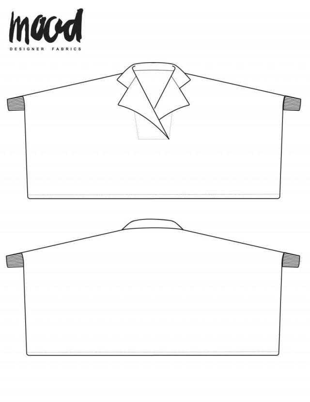 Free Sewing Pattern The Alder Top Free Shirt Sewing Pattern Mood Sewciety