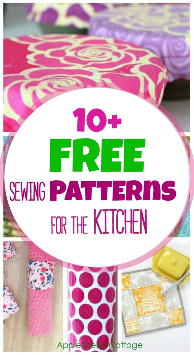 Free Sewing Patterns For Beginners 10 Handy And Free Sewing Patterns For The Kitchen Applegreen Cottage