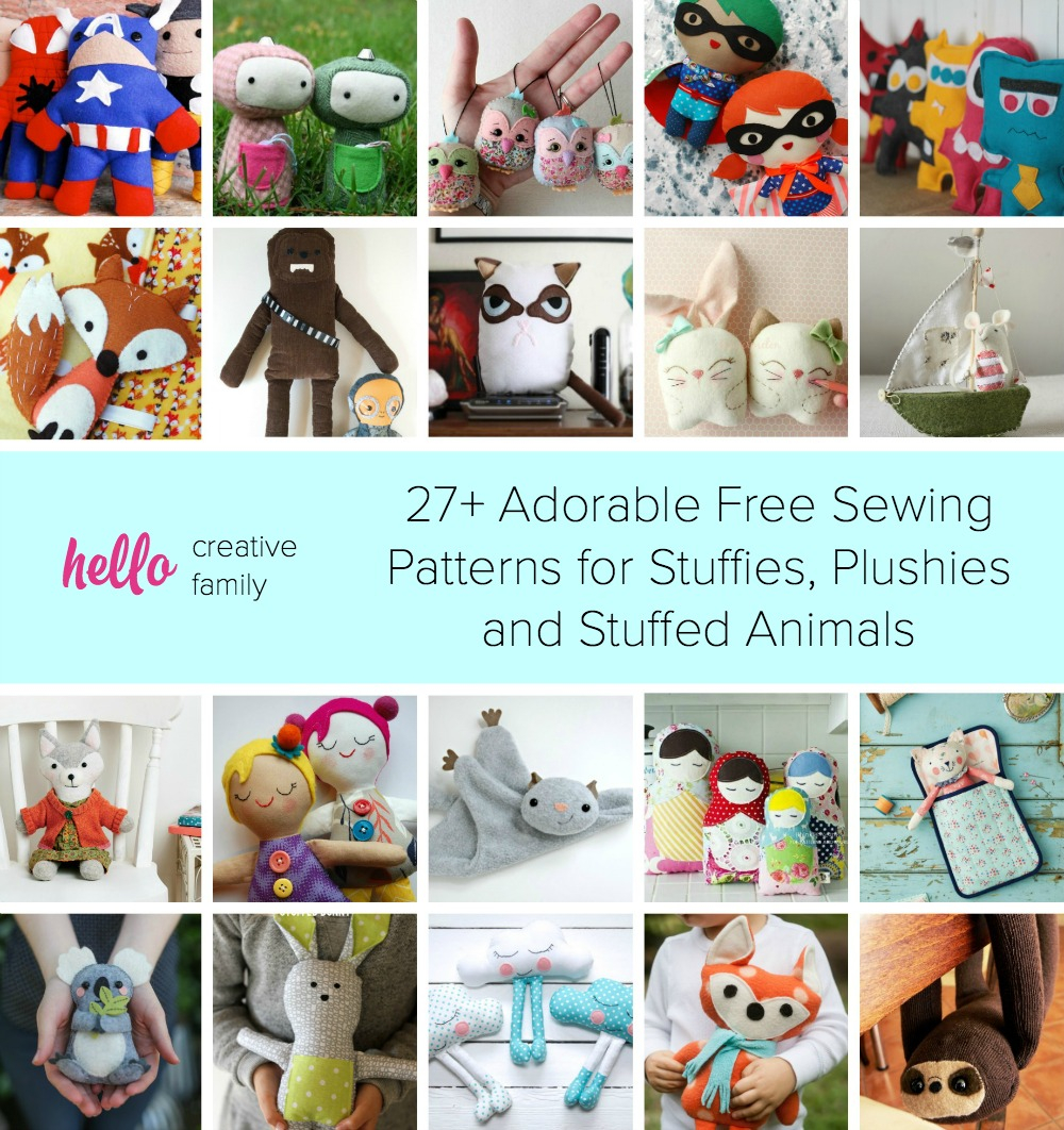Free Sewing Patterns For Beginners 27 Adorable Sewing Patterns For Stuffies Plushies Stuffed Animals