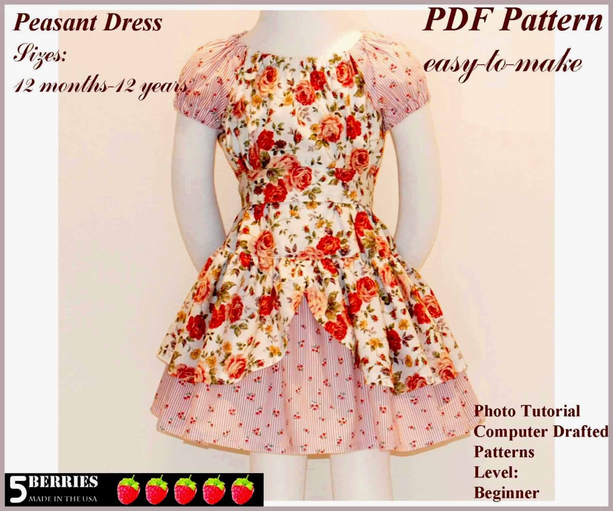 Free Sewing Patterns For Beginners Free Printable Sewing Patterns Alexandra Girls Dress Sewing