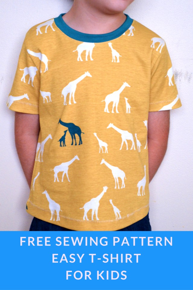 Free Sewing Patterns For Kids Easy T Shirt For Kids On The Cutting Floor Printable Pdf Sewing