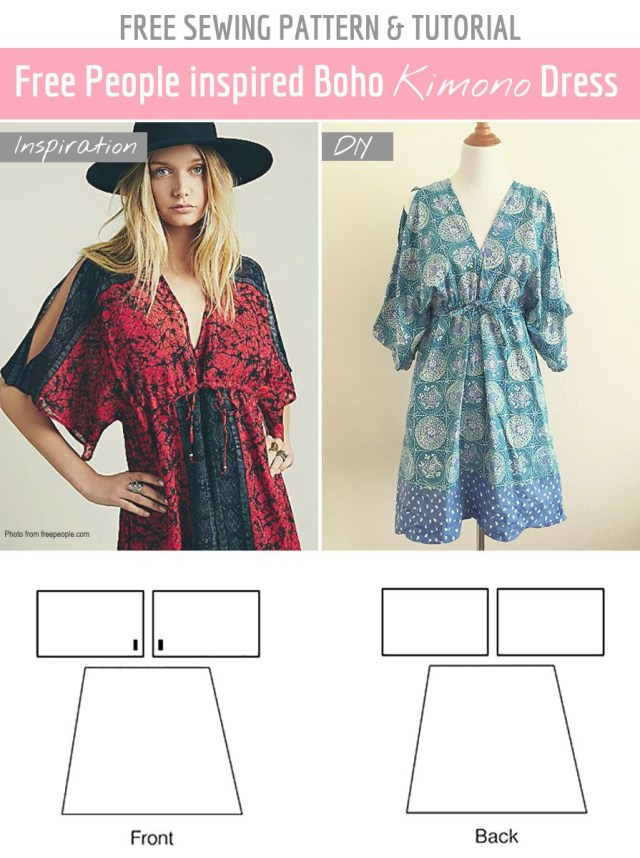 Free Sewing Patterns Free Sewing Pattern Tutorial Free People Inspired Summer Dress