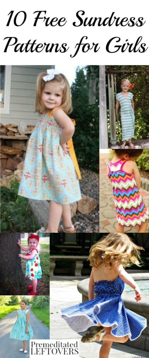 Girls Sewing Patterns 10 Free Sundress Patterns For Girls Sewing Patterns And Tutorials