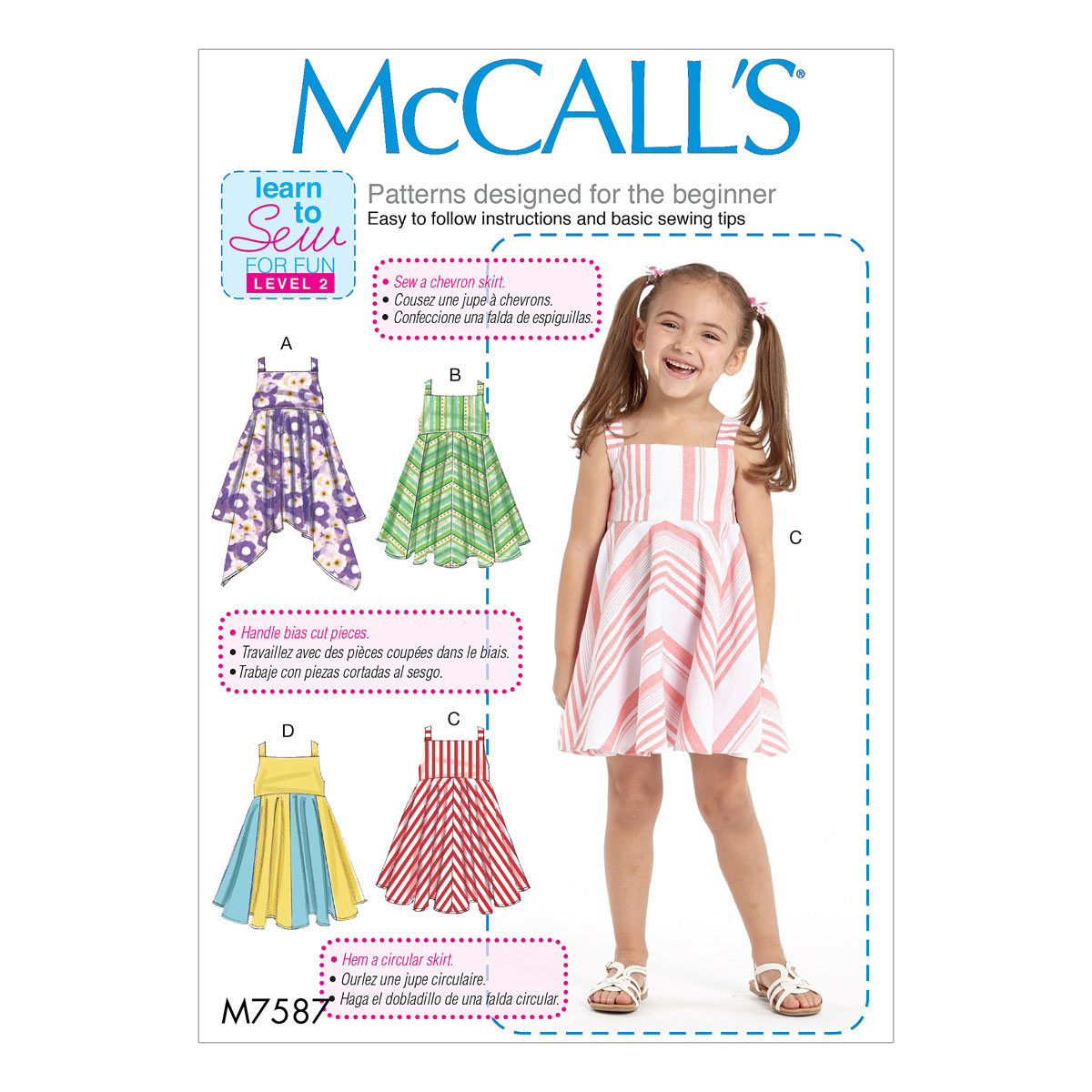 Girls Sewing Patterns Mccalls Sewing Pattern M7587 Childrensgirls Dresses With