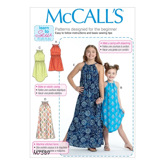 Girls Sewing Patterns Mccalls Sewing Pattern M7589 Childrensgirls Gathered Neck