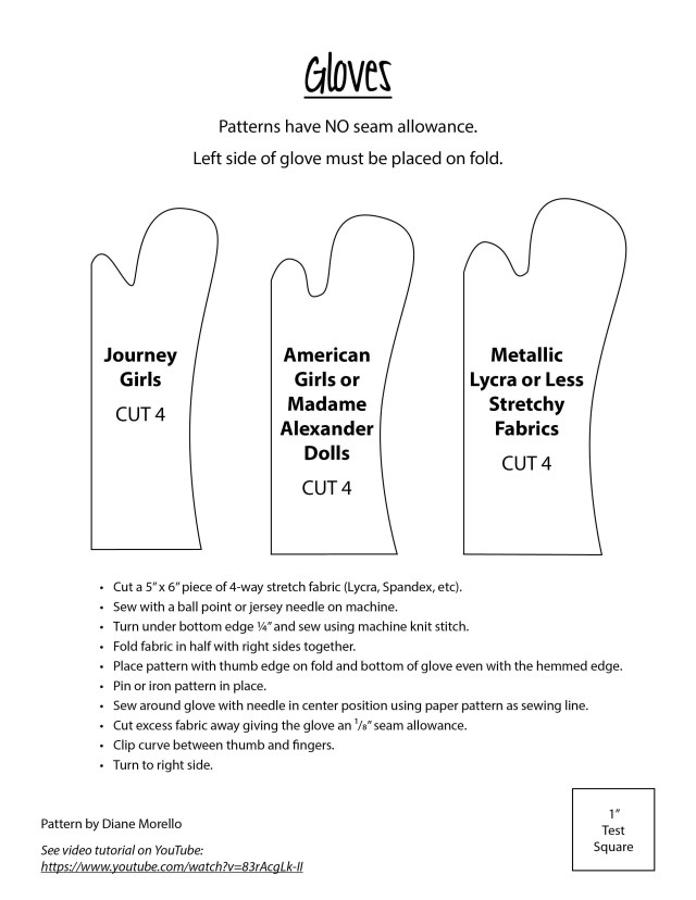 Glove Sewing Pattern Doll Gloves For 18 Dolls Doll Patterns Pinterest Doll Clothes