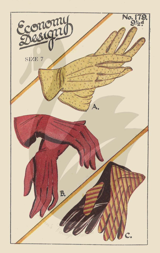 Glove Sewing Pattern Reproduction Ed179 Ladies Gloves Sewing Pattern Size 6 8 All Etsy