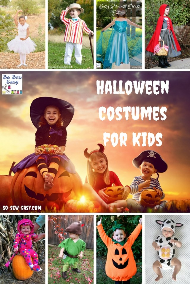 Halloween Sewing Patterns Halloween Costumes For Kids 40 Sewing Patterns Projects So Sew