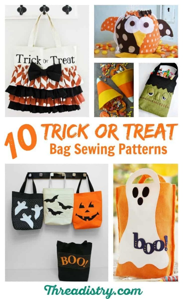 Halloween Sewing Patterns Harrowing Halloween Trick Or Treat Bag Sewing Patterns Sewing