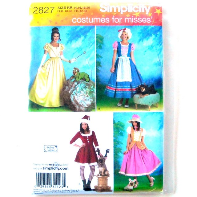 Halloween Sewing Patterns Misses Dog Halloween Costumes 14 20 Simplicity Sewing Pattern 2827
