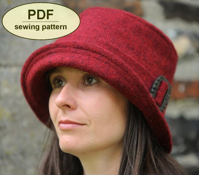 Hat Sewing Patterns New Sewing Pattern To Make The Chelsworth Cloche Hat Pdf Hat