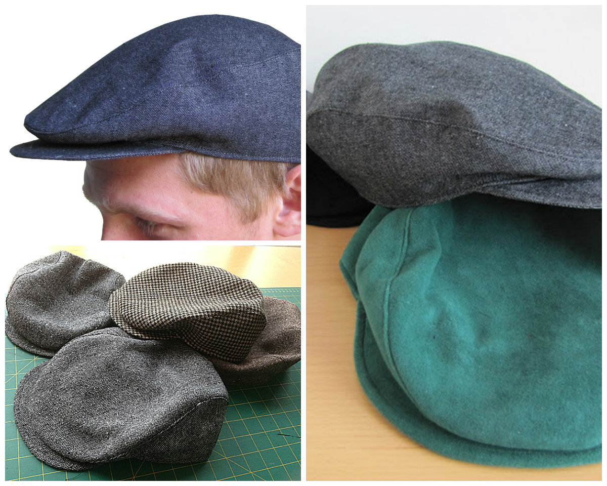 Hat Sewing Patterns You Sew Girl Flat Cap Downloadable Pattern