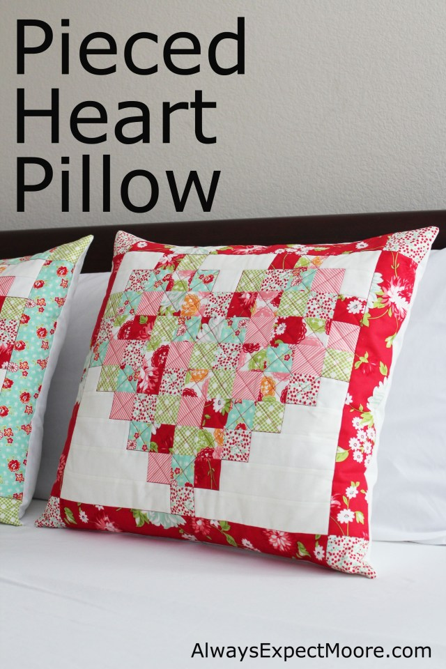 Heart Pillow Sewing Pattern Love This Pieced Heart Pillow Tutorial For Bustin Out The Scraps