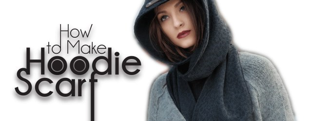 Hooded Scarf Sewing Pattern Easy Diy Sew From Scratch Hoodie Scarf Youtube