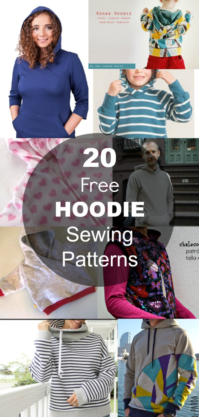 Hoodie Sewing Pattern 20 Hoodie Free Printable Sewing Patterns On The Cutting Floor