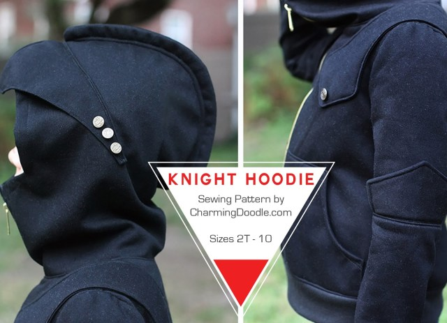 Hoodie Sewing Pattern Charming Doodlesew It Build It Introducing The Knight Hoodie
