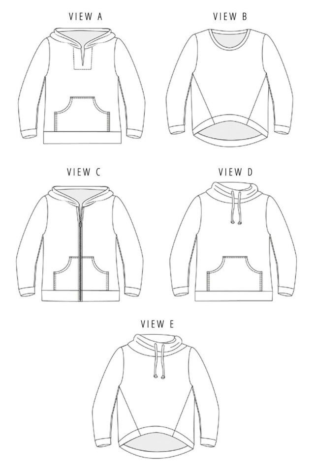 Hoodie Sewing Pattern Halifax Hoodie Sewing Pattern Hey June Sewing Pinterest