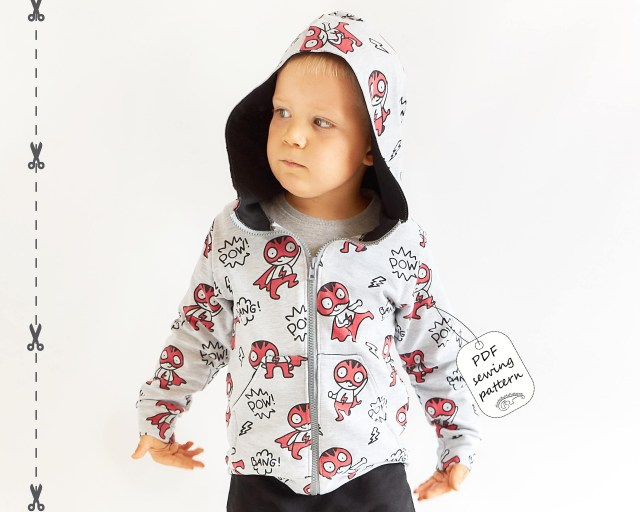 Hoodie Sewing Pattern Hoodie Sewing Pattern Pdf Download Ba Sewing Patterns Kids