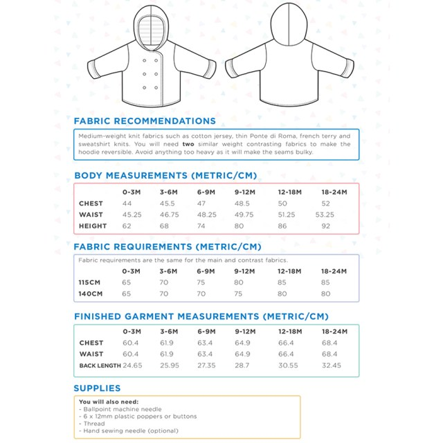 Hoodie Sewing Pattern Sew Over It Honeydew Hoodie Pdf Sewing Pattern Sew Over It