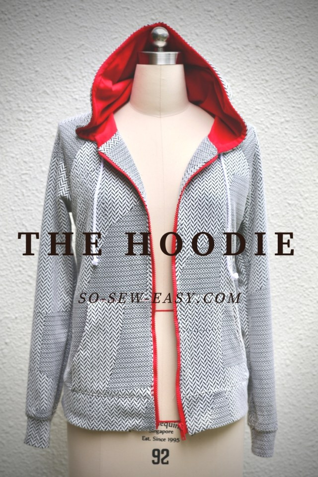 Hoodie Sewing Pattern The Hoodie Pattern And Tutorial So Sew Easy