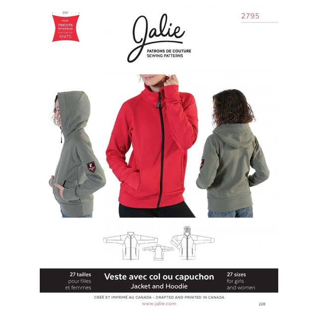 Hoodie Sewing Pattern Zip Front Jacket And Hoodie Jalie Sewing Pattern 2795 Sew Essential
