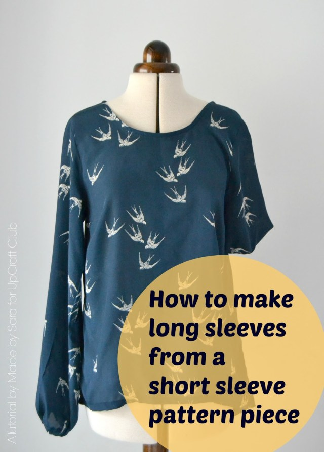 How To Make A Sewing Pattern Sewing Tutorial How To Make Long Sleeves From A Short Sleeve